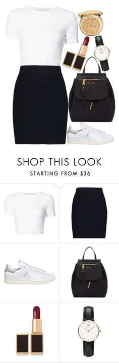 """""""Untitled#1573"""" by mihai-theodora ❤ liked on Polyvore featuring Rosetta Getty, Helmut Lang, adidas, Marc Jacobs, Tom Ford, Daniel Wellington and Christian Dior"""