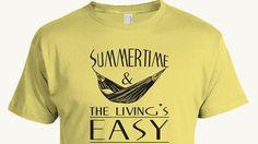 Summertime T-shirt, Summertime and the living is easy, hammock