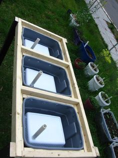 Creating DIY raised garden beds, or garden boxes, in your backyard is a great way Watering Raised Garden Beds, Diy Self Watering Planter, Raised Garden Bed Plans, Self Watering Containers, Raised Beds, Compost, Elevated Planter Box, Raised Planter, Above Ground Garden