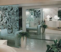 vaporwave interior palmandlaser: From Showcase of Interior Design: Pacific Edition 80s Interior Design, Mid Century Interior Design, Mid-century Interior, Modern Interior, Interior Architecture, Interior And Exterior, Interior Decorating, 80s Design, Minimalist Architecture