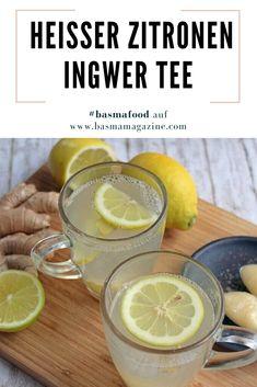 Heißer Zitronen Ingwer Tee mit Honig für gestärkte Abwehrkräfte in der Erkältungszeit. Mehr auf BASMA Magazine.