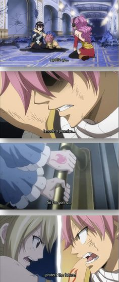Fairy Tail, NaLu, Natsu x Lucy, I will protect the future! THE FEELS I AM DEAD FROM THE FEELS