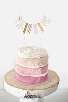 naked pink ombre wedding cake // photo by Natalie Spencer // cake by Darling & Daisy