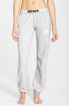 Free shipping and returns on Nike 'Rally' Loose Sweatpants at Nordstrom.com. Classic sweatpants emblazoned with Nike's Swoosh and slogan are cut loose for comfort and designed with a plush, brushed interior and cuffed hems that don't get in the way of your workout.