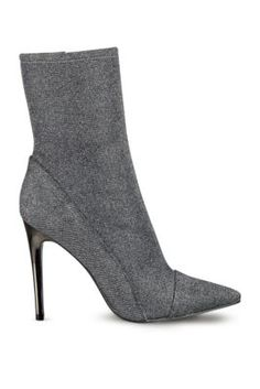 Really like these Oblong Glitter Mid-Calf Pointed-Toe Booties   GUESS.com