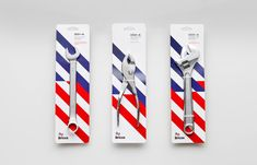 Tool packaging designed by Anagrama for Mexican electrical hardware store Bricos