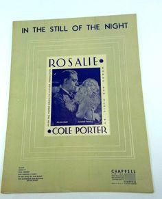 Sheet Music In the Still of The Night Cole by WhatnotsAndFancifuls