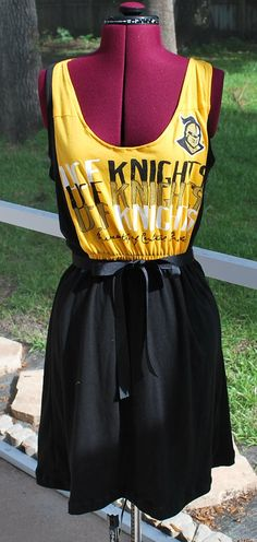 cfabc80826 UCF University of Central Florida Knights Game Day Tank Dress Upcycled  T-Shirts Medium Ready to Ship