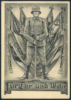3rd Reich Germany For Honor Propaganda Card