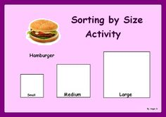 Sorting by Size Activity. Autism & Special Needs