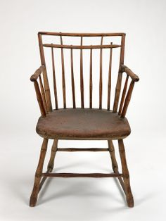 Sheraton Windsor Arm Chair by Jacob Cole  ca. 1796 , owned by the Prendergasts at Williams College Museum of Art
