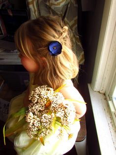 Pick 3 small floral hair pieces bridesmaid flower hair clip silk silk navy flower hair clip floral hair accessories in blue wedding toddler girls hairpieces small fabric flowers on bobby pins alligator navy and gold mightylinksfo