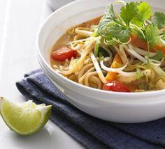 Thai coconut & veg broth By Good Food Bbc Good Food Recipes, Veggie Recipes, Asian Recipes, Soup Recipes, Cooking Recipes, Ethnic Recipes, Veg Soup, Vegetarian Soup, Vegetarian Recipes