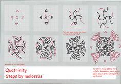 Quatrinity-Tangle Pattern | by molossus, who says Life Imitates Doodles