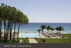 Our #Infinity #Pool seems to merge to the sea, don't you think?  #lavilladelre #costarei #sardegna #italia www.lavilladelre.com