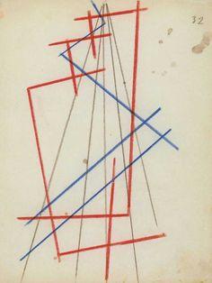 Liubov Popova, Space force construction, ca. 1920