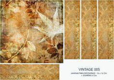 FOLHAS DE DECOUPAGE DECOPAPER: Vintage Prints 16x16 + GUARD (1)