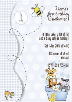 BFY_003 Invite, Invitations, Little Cakes, Baby First Birthday, First Birthdays, Rsvp, Monkey, Fun, One Year Birthday
