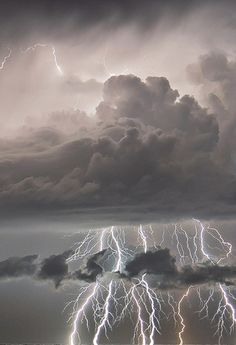 Sudden Lightning Storm. As much as I hate storms I can't deny how beautiful this picture is. Love it.