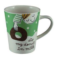 coffee mug - donut in milk