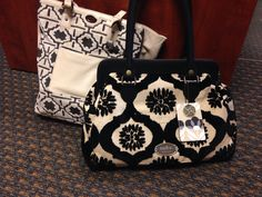 Troubadour tote in Fresco and Black Forest Cosmo with malmo IBT tag