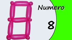 Video tutorial on how to make the Number Eight with balloon twisting. Learn the numbers with balloons modeled #numbers #number8 #numbereight