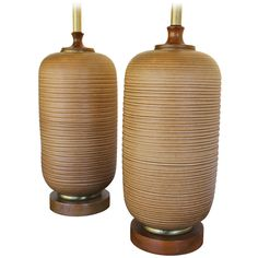 Pair of Ceramic Lamps   From a unique collection of antique and modern table lamps at http://www.1stdibs.com/furniture/lighting/table-lamps/