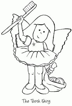 Tooth Fairy Coloring Pages Coloring Sheets, Coloring Books, Fairy Sketch, Art Activities For Toddlers, Dental Kids, Fairy Coloring Pages, Fairy Crafts, Tooth Fairy Pillow, Daycare Crafts