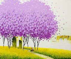 Vietnamese Landscapes Painted by Phan Thu Trang  http://www.thisiscolossal.com/2014/05/vietnamese-landscapes-painted-by-phan-thu-trang/