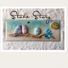 """153 Beğenme, 1 Yorum - Instagram'da Stone Story by db(Duygu Bayer) (@stone_story_by_db): """"Mutlu Günler ☀️ . . . . . #kuşlar#gift#hediye#hediyefikirleri#duvarsüsü#duvarpanosu #doğumgünü…"""""""