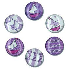 Sigma Sigma Sigma Sorority Magnets $6.99  #TriSigma #sigmasigmasigma #Greek #sorority #Accessories