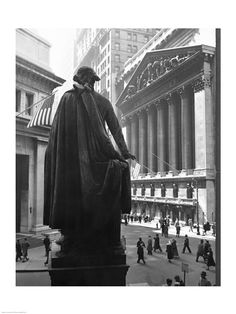 George Washington Statue, New York Stock Exchange, Wall Street, Manhattan, New York City, USA