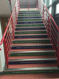 Staircase In Highschool For Math Subject!