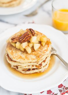 Oatmeal Pancakes | Kitchen Confidante....starts by soaking rolled oats in buttermilk overnight!