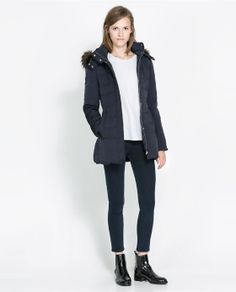 ZARA - WOMAN - PUFFER JACKET WITH HOOD