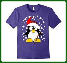 Mens Penguin Cute Not Ugly Christmas Sweater Funny Xmas T-Shirt 3XL Purple - Holiday and seasonal shirts (*Amazon Partner-Link)