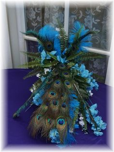 peacock flower arrangements - Bing Images