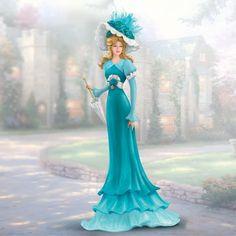 Thomas Kinkade Figurines Collection | Elegant Promenade Lady Figurine Bradford Thomas Kinkade | eBay