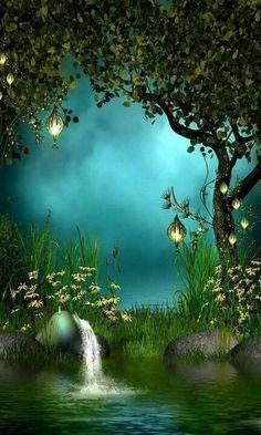 Lovely Forest Lake Tree Photo Background Backdrop in 2019 Fantasy Forest, Fantasy World, Mystical Forest, Forest Fairy, Magic Forest, Forest Garden, Fantasy Kunst, Illustration, Photo Tree