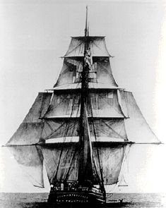 John D. Spreckles out of San Francisco making way in a lazy breeze with a full suit of sails - including stunsails aka studdingsails set on prolonged yardarms. John D. A handsome brigantine. National Historical Museum, Full Sail, Vintage Boats, Sail Away, Tall Ships, Water Crafts, Sailing Ships, Sailing Yachts, Old Photos