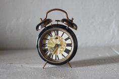 Large Vintage French Alarm Clock Jaz by RueVertdegris on Etsy