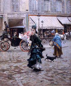 Giovanni Boldini 'Crossing the Street' (1875)