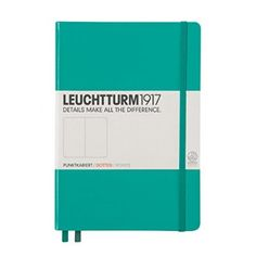 Leuchtturm1917 Notebook Medium (A5) Hardcover, 249 Numbered Pages, Dotted, Emerald