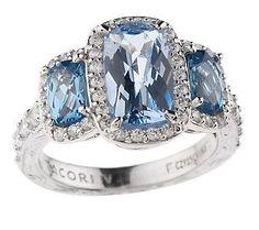 Tacori IV Diamonique Epiphany Three Stone Ring