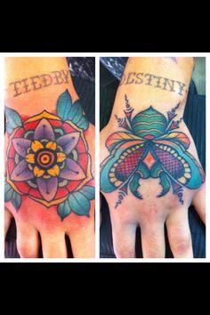 Hand Tattoo's By Mirko Colli