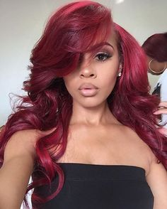 Amethyst Grade Brazilian Virgin Human Hair Ombre Burgundy Lace Front Wigs With Density Glueless Loose Wavy Full Lace Human Hair Wigs For Black Women full lace wig) No Yellow Shampoo, Hair Colorful, Wig Styling, Styling Tools, Curly Hair Styles, Natural Hair Styles, Hair Sew In Styles, Natural Wigs, Weave Styles