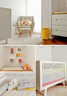 Modern and simple girls nursery