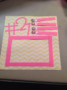 Shot book page My Best Friend's Birthday, 21st Birthday, Birthday Ideas, 21st Shot Book, Shot Book Pages, Paper Crafts, Diy Crafts, Craft Organization, Summer Crafts