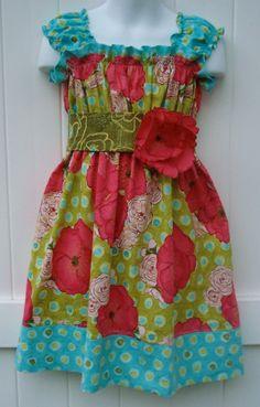 Juvie Moon Designs Kiera Shirred Boutique Custom Dress  PDF E Book Tutorial. $12.00, via Etsy.