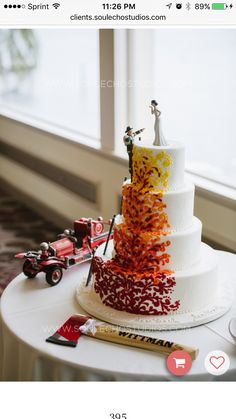 Firefighter wedding cake                                                       …